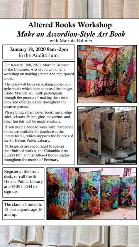 altered books workshop city  st helens oregon