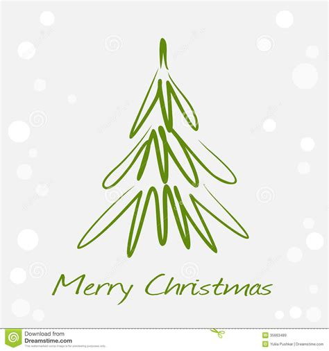 card  green christmas tree royalty  stock images