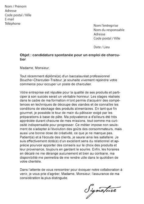 modele lettre de motivation employé communal lettre de motivation charcutier mod 232 le de lettre