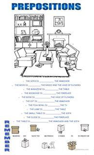 ESL Prepositions Worksheet
