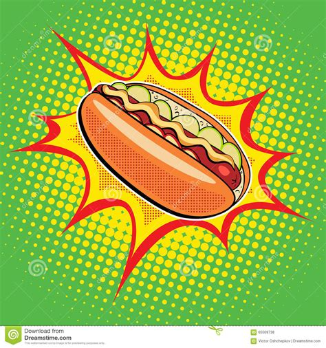 cuisine pop fast food stock vector image 65509738