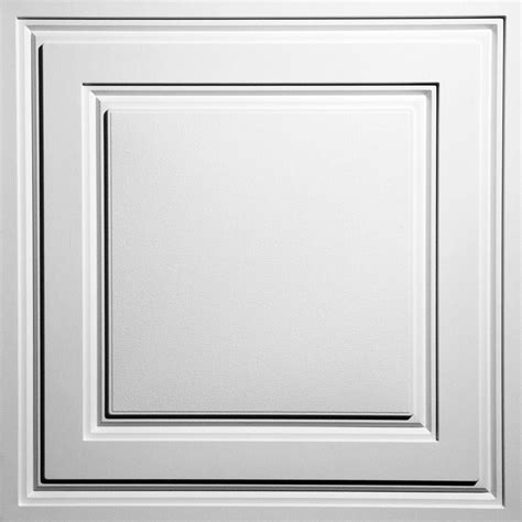 Ceilume Ceiling Tiles by Ceilume Oxford White 2 Ft X 2 Ft Lay In Ceiling Panel