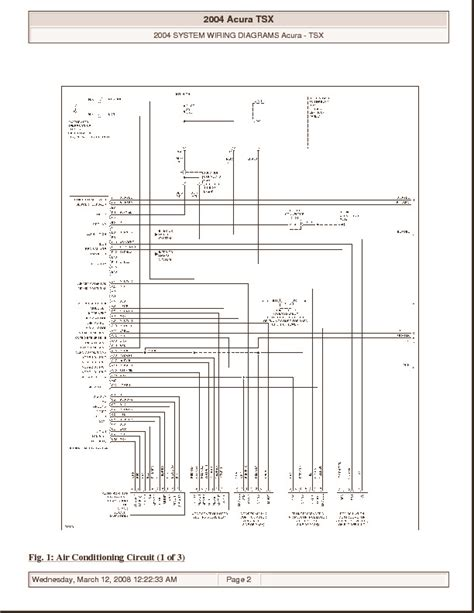 Acura Wiring Pdf Free Engine Image For User