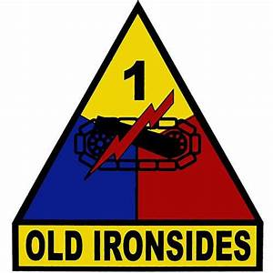 1st Armored Division (Old Ironsides) Clear Decal USAMM