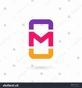 mobile phone app letter m logo stock vector 268946702 With letter design app