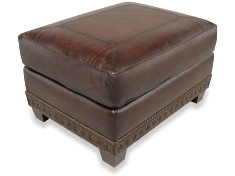 Brown Leather Ottoman by Traditional Genuine Top Grain Brown Leather Ottoman Ebay