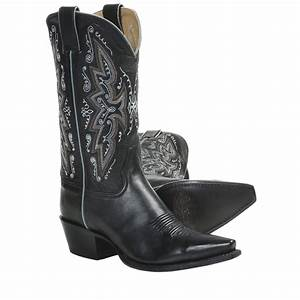 """Sonora Leather Cowboy Boots - 11"""", Snip Toe (For Women) in ..."""