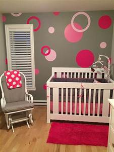 chambre fille pois roses chambre de bebe pinterest With chambre bebe fille rose