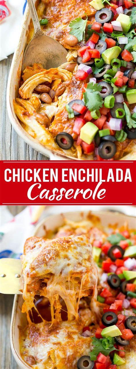 Season chicken with 1/8 teaspoon salt and 1/8 teaspoon freshly ground black pepper. This easy recipe for chicken enchilada casserole is just 5 ...
