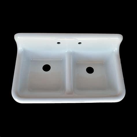 double basin high  farmhouse style sink model