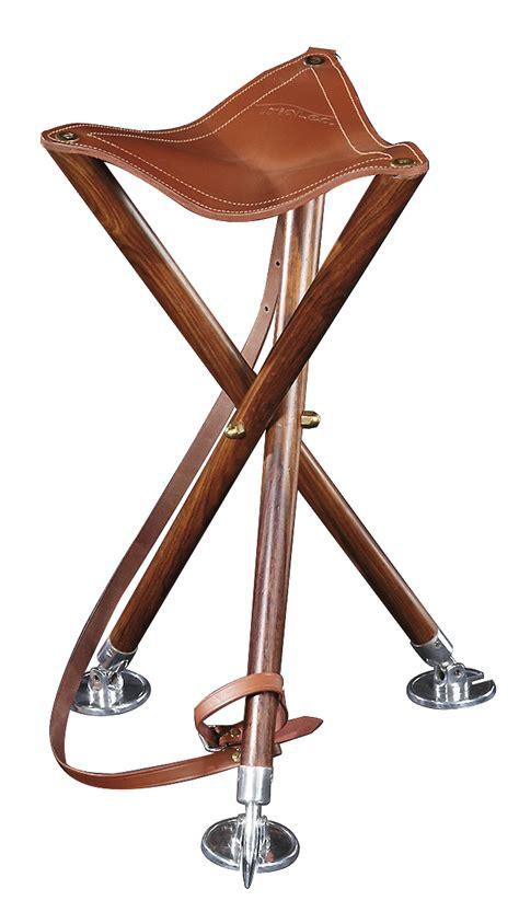 siege trepied siège trépied pliable battue peche bois cuir pieds métal