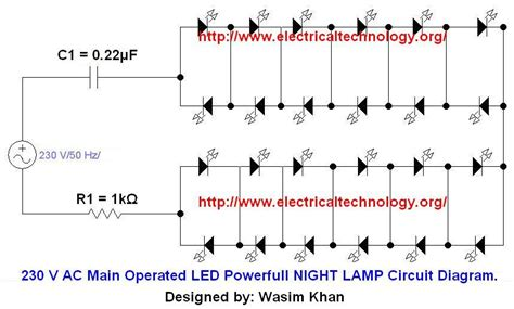 230 v 50hz ac or 110v 60hz operated led powerful
