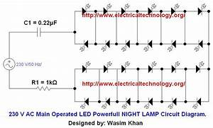 230 V 50hz Ac  Or 110v 60hz  Main Operated Led Powerful