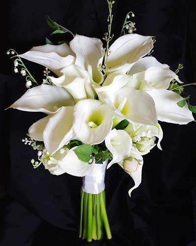 wedding bouquets calla lilies touch silk calla wedding bouquet 8498