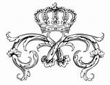 Crown Symbol Royal Coloring Adult Queens Kings Pages sketch template