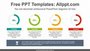 Simple Donut Charts Powerpoint Diagram Template