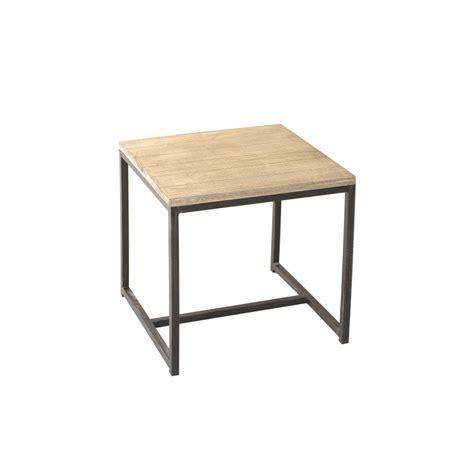bout de canapé carré paulownia meubles macabane