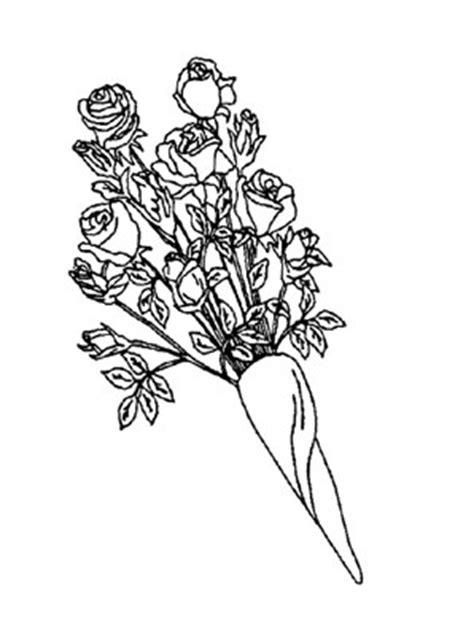 ausmalbilder rosenstrauss  rosen malvorlagen
