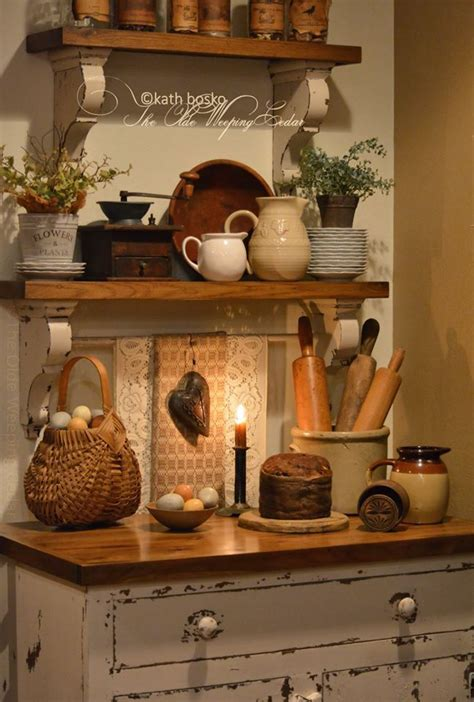 The Olde Weeping Cedar Rustic Kitchen Cupboard With