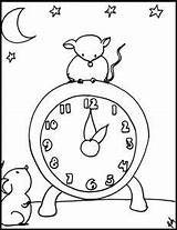 Hickory Dickory Coloring Dock Sheets Blt Nursery Clock Songs Children sketch template
