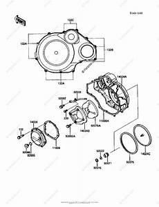Kawasaki Motorcycle 1986 Oem Parts Diagram For Engine