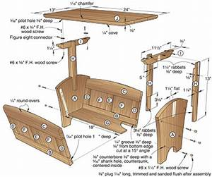 Magazine Rack Plans - How To build DIY Woodworking
