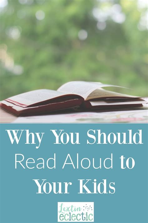 Why Read Aloud?  Lextin Eclectic
