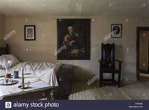 A bedroom at Woolsthorpe Manor, Lincolnshire. Woolsthorpe ...