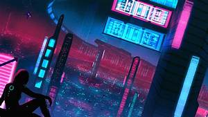Night, Neon, Alone, Girl, Cyberpunk, 5k, Hd, Artist, 4k, Wallpapers, Images, Backgrounds, Photos, And