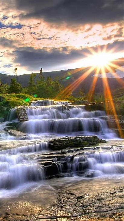 Nature Landscape Wallpapers Portrait Waterfall Vertical Background