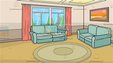 A Small Living Room Background  Clipart By Vector Toons