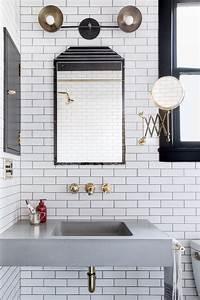Small, Bathroom, Ideas, In, Black, White, U0026, Brass