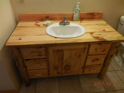 knotty pine bathroom vanity cabinets hand made knotty pine bathroom vanity by harry 39 s cabin