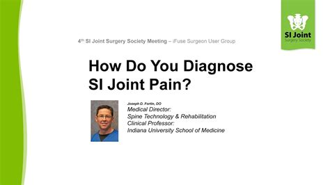 How Do You Diagnose Si Joint Pain? Joseph D Fortin, Do Youtube