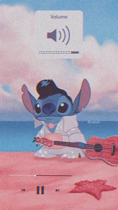 Stitch Aesthetic Disney Wallpapers Cartoon Iphone Celular