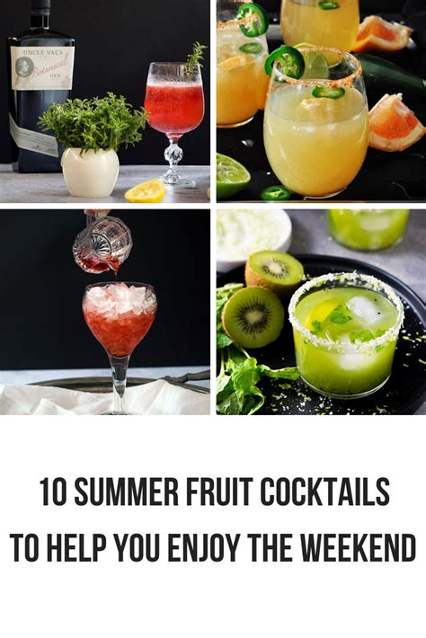 10 Refreshing Summer Cocktail Recipes To Help You Keep Your Cool by 10 Summer Fruit Cocktails To Help You Enjoy The Weekend