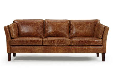 canapé cuir usé the vintage 1960 scandinavian leather sofa and