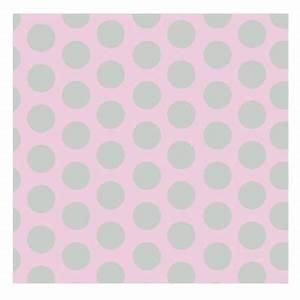 Papier Peint à Pois : papier peint rose pois gris lili pouce stickers ~ Dailycaller-alerts.com Idées de Décoration