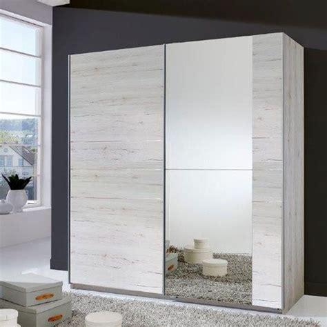 stripe  door sliding wardrobe  white oak  mirrored