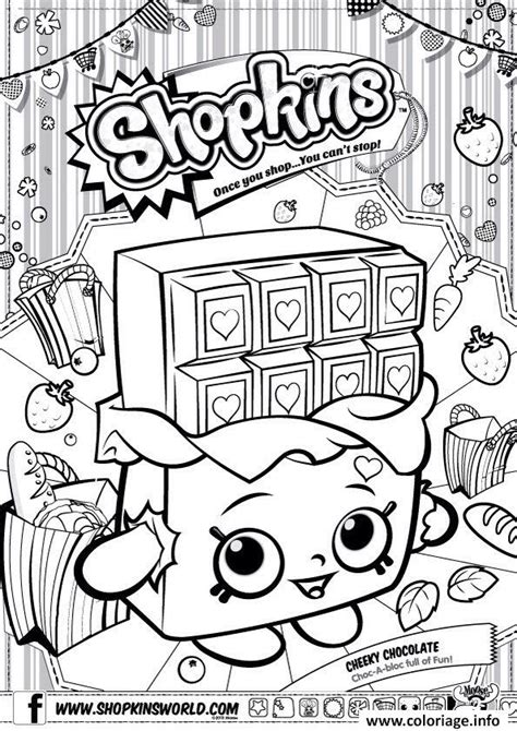 Shopkins Free Colouring Pages