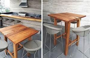 Table Bar But : modern wooden bar tables custom made in mexico ~ Teatrodelosmanantiales.com Idées de Décoration