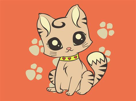 Cute Cartoon Cat Wallpaper Wallpapersafari