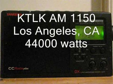 Ls Plus La Los Angeles by Am Bandscan With The Ccradio Plus In Los Angeles Ca