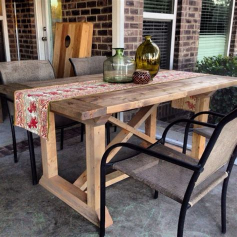 how to build a dining room table with diy rekourt farmhouse dining table plans