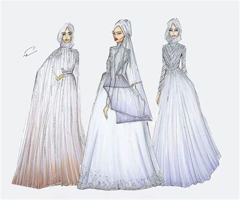 hijabi fashion illustrations images  pinterest