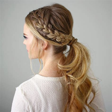 double braided ponytail hope    great