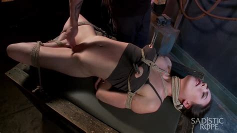 Sadistic Rope Tied Up Slave Slut Casey Calvert Gets Her Shaved Pussy Toyed In BDSM PornDoe