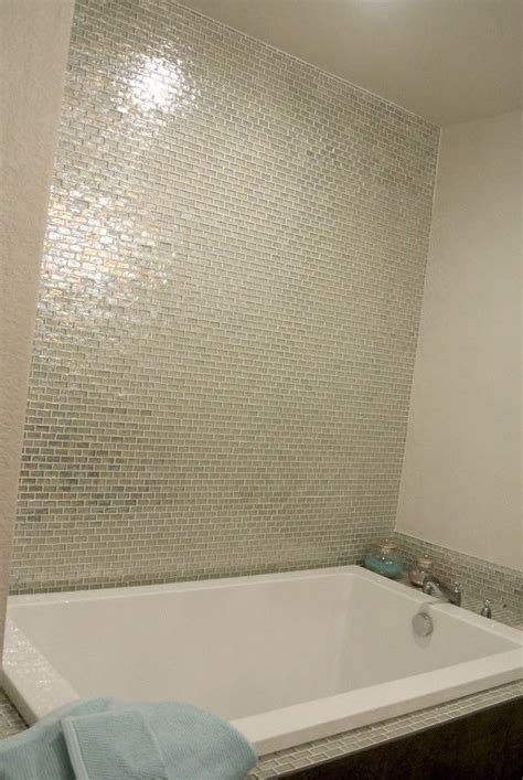 iridescent pool glass tile clear  mineral tiles