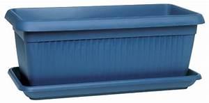jardiniere soucoupe bleu poterie balconnieres With tapis chambre bébé avec pot fleur rectangulaire plastique