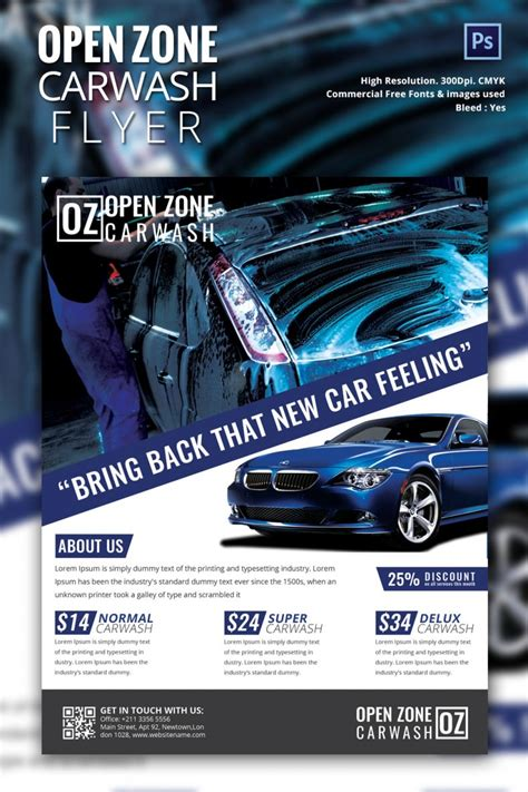 Car Wallpapers Free Psd Flyer Template by Car Wash Flyer 48 Free Psd Eps Indesign Format